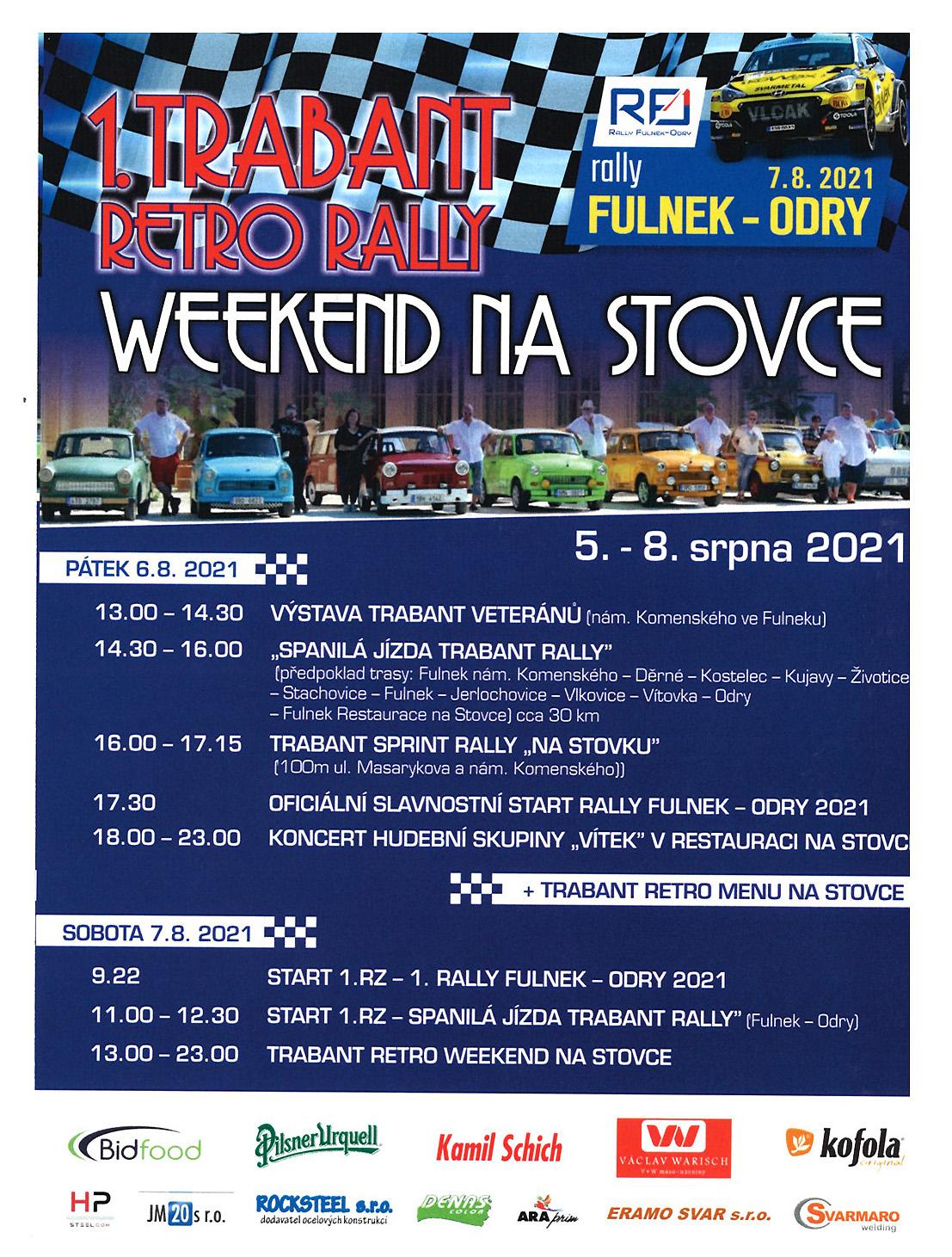 Trabant Retro rally 2021_letak